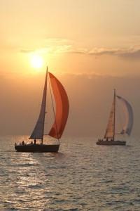 Dos barcos en una de las ediciones anteriores de la prueba