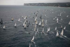 Imagen de la salida de la regata