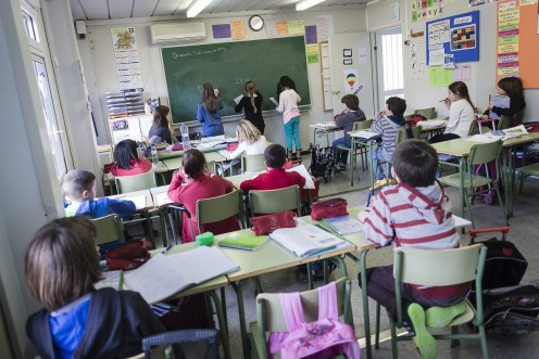Un aula con alumnos en clase. Foto: ARA Balears.