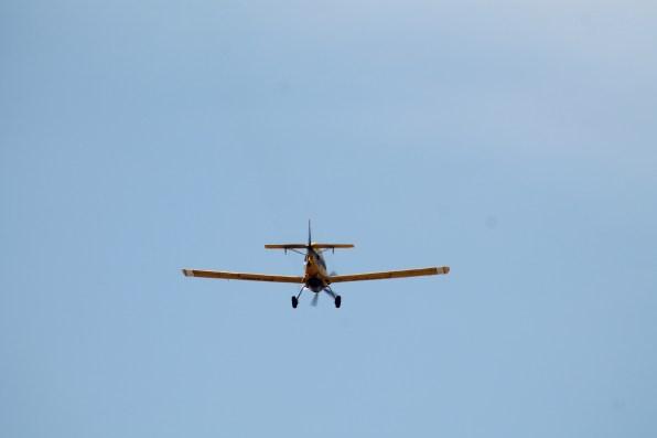 El avión contra incendios. Foto: G.R.