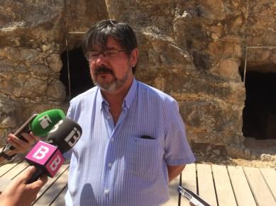 El director del museo, Benjamí Costa, en una rueda de prensa. Foto: L.A.