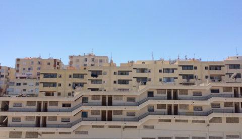Imagen de archivo de varios edificios de viviendas de Ibiza
