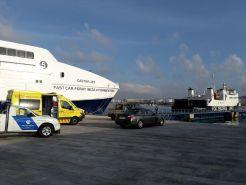 El accidente tuvo lugar en el Muro del Puerto de Ibiza. Foto: Juan Martín Restituto