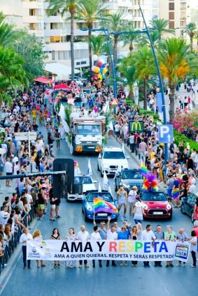 Imagen de la marcha que tuvo lugar el pasado sábado en el puerto de Vila.