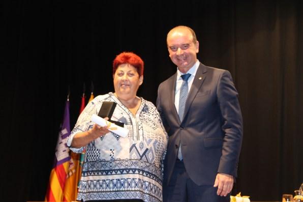 Pilar Castelló junto a Jaume Ferrer. Foto: G.R.