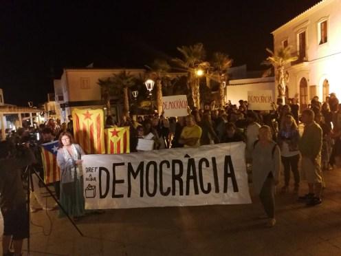 Imagen de la concentración que ha tenido lugar en Formentera.