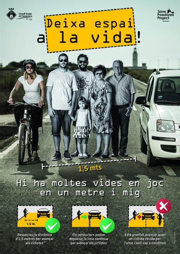 Imatge del cartell de la campanya del Consell de Formentera.