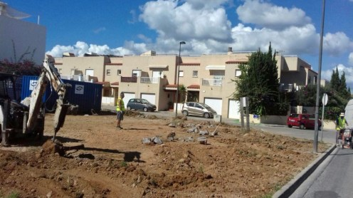 Comienzan las obras de la zona recreativa de s'Illa Plana, en el municipio de Ibiza.