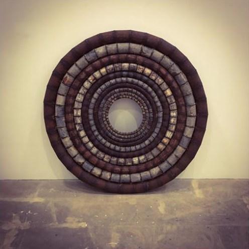 Una de las esculturas de Ferran Aguiló