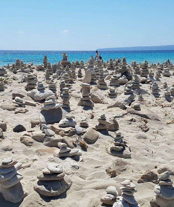 Munts de pedra a es Trucadors (Formentera).