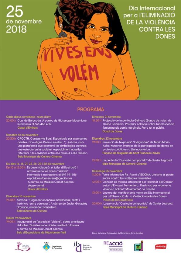 Programa Día Internacional por la eliminación de la violencia machista