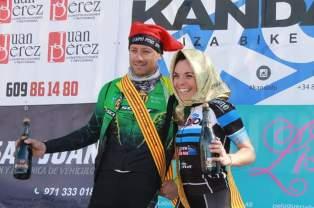 Morcillo y Feixas, en el podio. Foto Fany Serra.