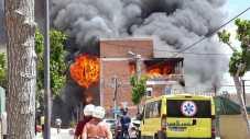 Incendio edificio okupa de es Viver
