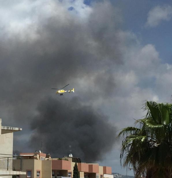 Incendio en el edificio okupado de es Viver