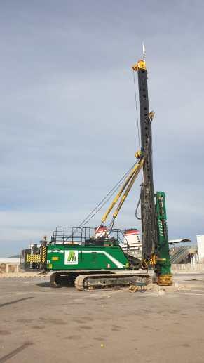 Imágenes del inicio de las obras de la estación marítima de es Botafoc esta semana.