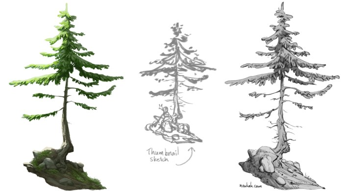 Some pine trees made by yours truly
