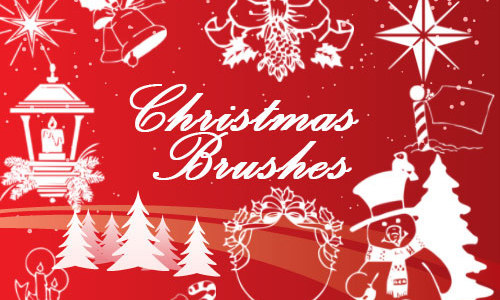Christmas Brushes Vol 1-christmas in The Ultimate Christmas Round-Up: Patterns, Brushes, Vectors and Fonts