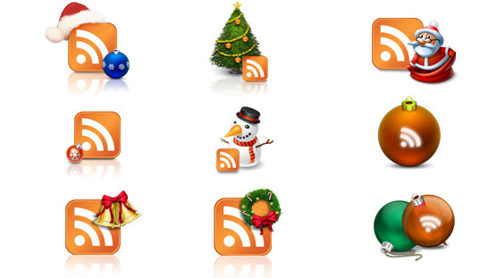 Feed-icon2-christmas in The Ultimate Christmas Round-Up: Patterns, Brushes, Vectors and Fonts