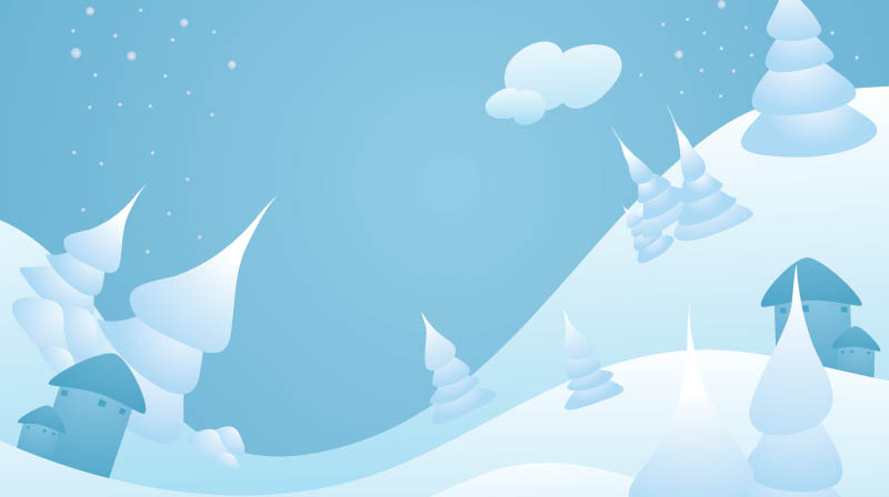 Snow-landscape-christmas in The Ultimate Christmas Round-Up: Patterns, Brushes, Vectors and Fonts