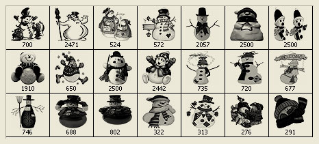 Snowman-brushes-christmas in The Ultimate Christmas Round-Up: Patterns, Brushes, Vectors and Fonts