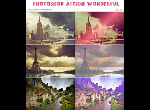 Photoshopactions79 in 80+ Time Saving and Free Photoshop Action Sets To Enhance your Photos