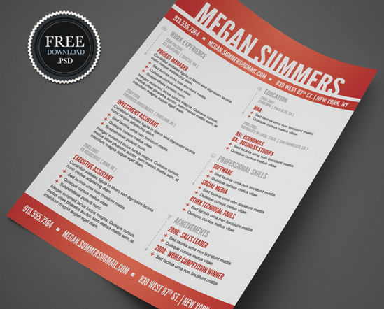 26 Free Resume Templates to Give You That Career Boost   The JotForm     Swiss Style Resume Template      swiss