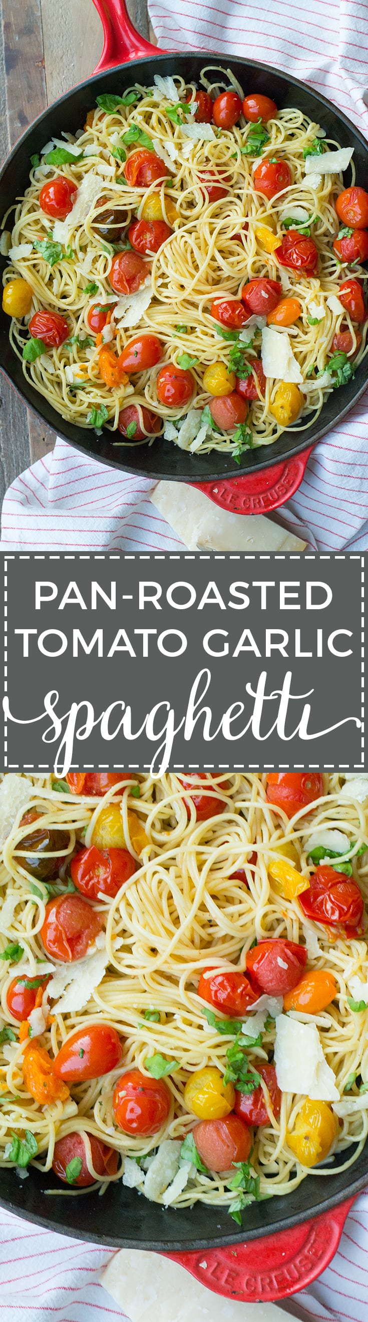 This lightning fast weeknight meal relies on an emulsified sauce to deliver luscious flavor with simple, fresh ingredients - spaghetti, cherry tomatoes, and garlic. Quick and easy pasta for dinner tonight!