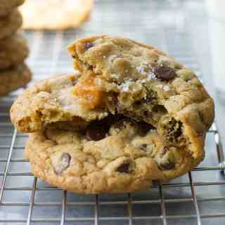 Salted caramel adds a delicious twist to classic chocolate chip cookies. Easy to make, easy to love!