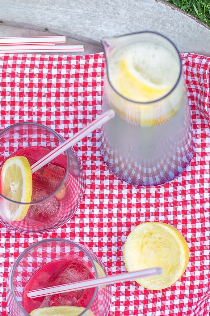 Sparkling raspberry lemonade is the most refreshing, simple, homemade summer drink!