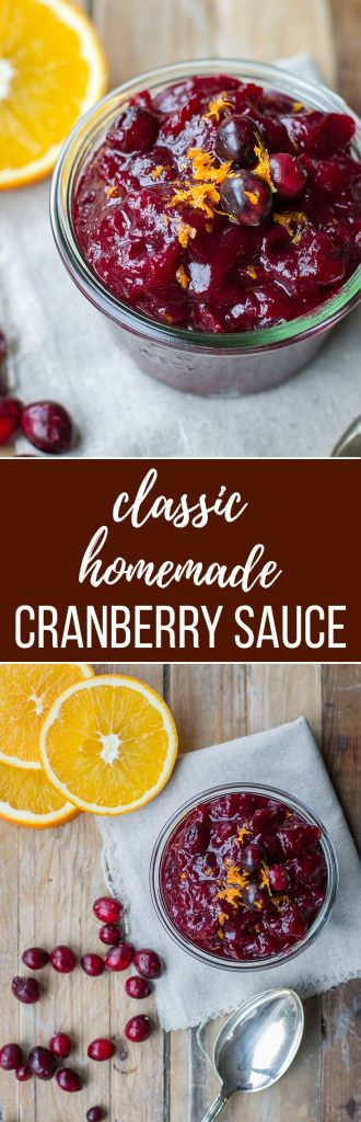 Simple homemade cranberry sauce | A Thanksgiving classic, so easy and delicious with fresh cranberries, citrus, and a hint of sweetness. Ready in 15 minutes! #thanksgivingrecipes #makeahead #cranberrysauce