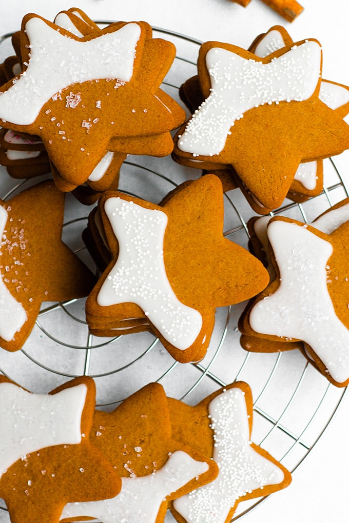 Gingerbread Star Cookies - Nourish and Fete