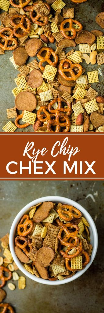 Rye chip Chex mix is a beloved twist on the classic snack mix, perfect for parties, tailgating, and entertaining. #chexmix #footballsnacks #tailgatingsnacks #snackmix
