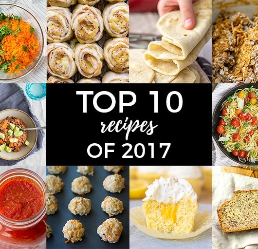 Top 10 recipes of 2017 on Nourish & Fete.