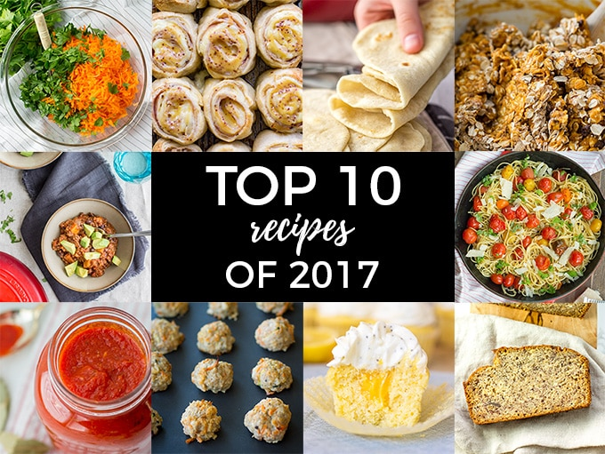 The top 10 reader favorites of 2017 on the food blog Nourish & Fete.