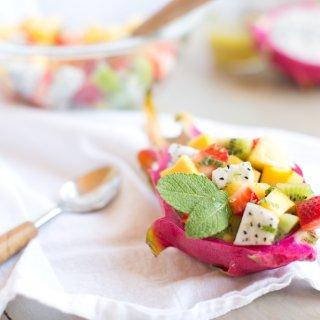 Dragon Fruit Summer Salad + Honey Lime Dressing.