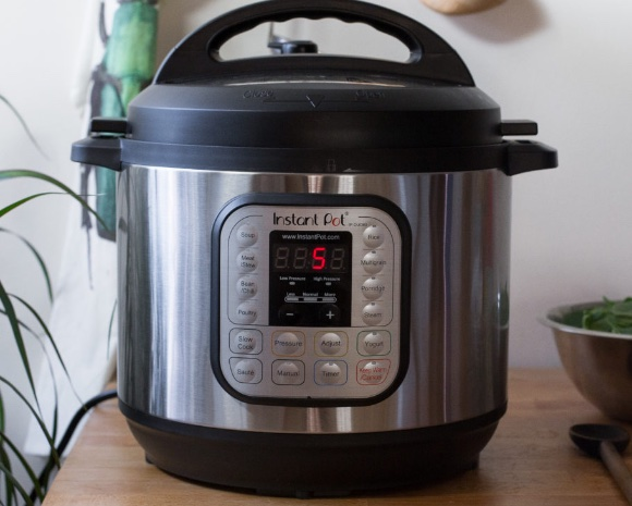instant pot standing on a table