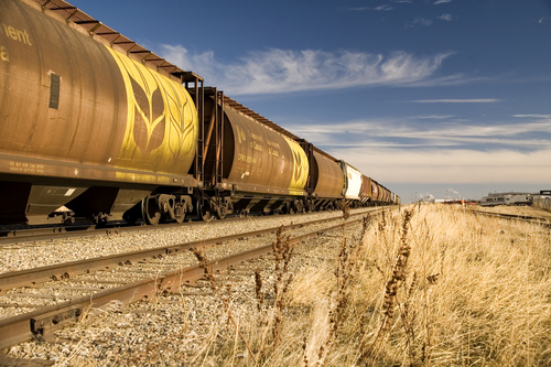 Agriculture products shipping by train