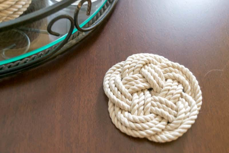 Homemade Christmas Gifts: Rope Coasters