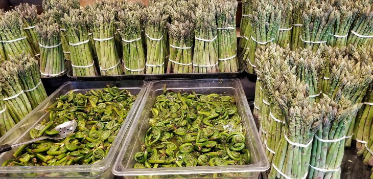 #1000WaysToNourish image of green vegetables in produce aisle