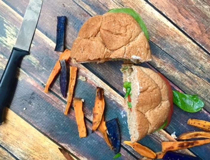 Goat Cheese & Spinach Turkey Burgers
