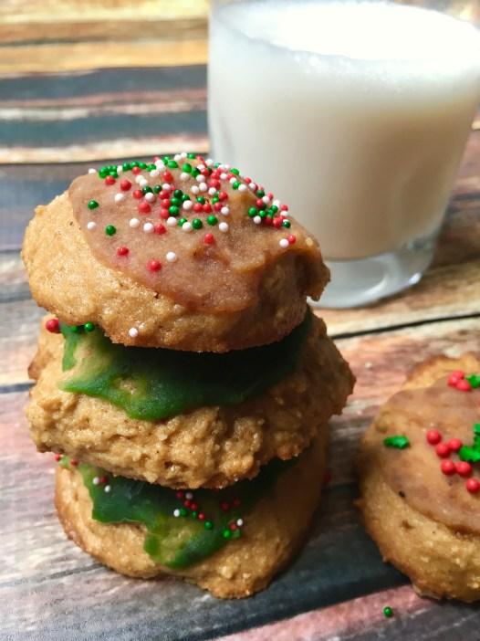 Paleo Iced Christmas Cookies