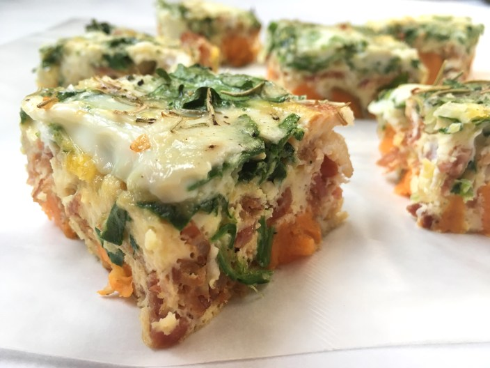 Bacon Sweet Potato Parmesan Breakfast Casserole