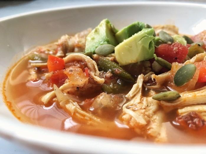 Paleo Chicken Tortilla(less) Soup