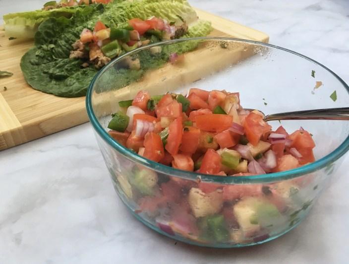 30-Minute Turkey Lettuce Wrap with Peach Salsa
