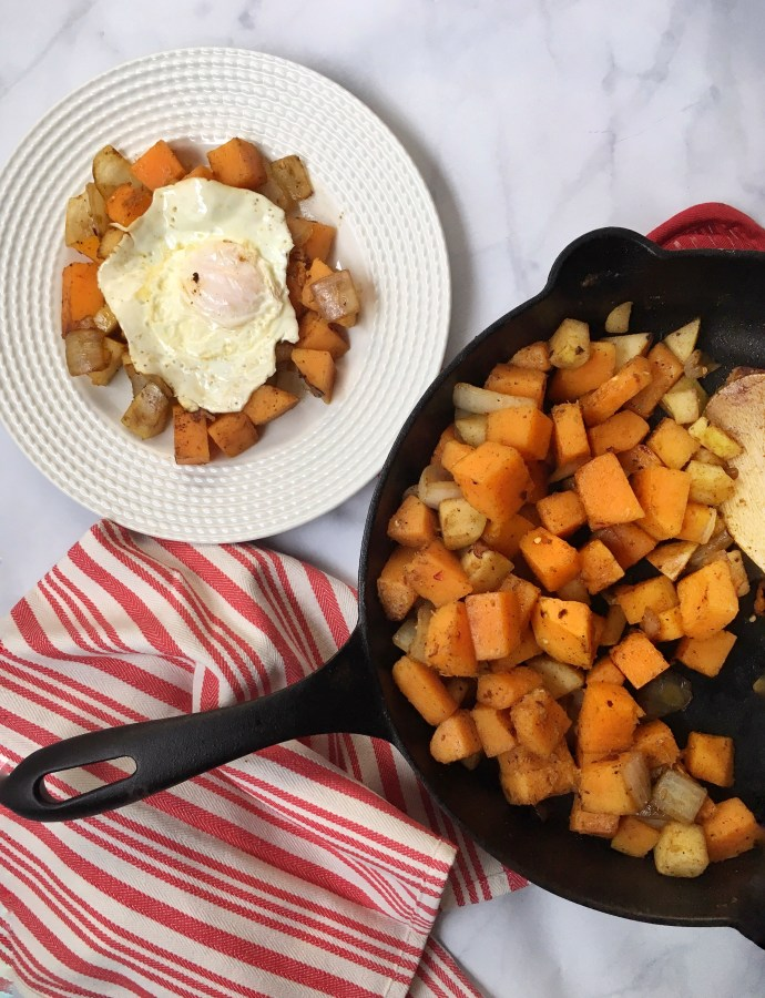 Paleo Butternut Squash & Pear Breakfast Hash
