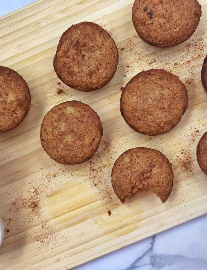 Loaded Carrot Cake Muffins {Paleo, Gluten-Free, Dairy Free}