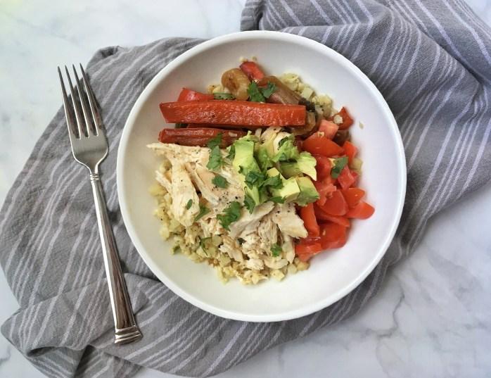 Paleo-Style Fajita Bowl with Cilantro Lime Cauliflower Rice (4)