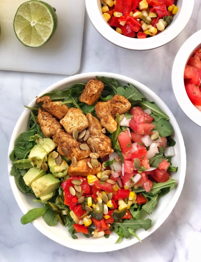 Not-Your-Average Paleo Fajita Chicken Salad