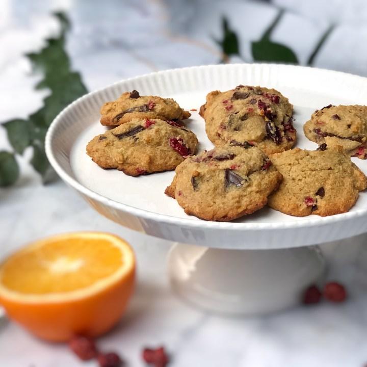 Cranberry Orange Dark Chocolate Chunk Cookies