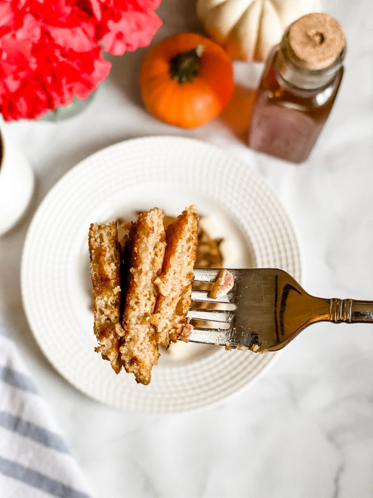 Paleo Honey & Pumpkin Pancakes